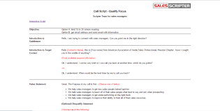 Sales Calls Template How To Use A Call Script Template