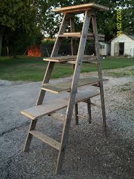 picture of recycled ladder cat tree