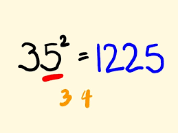 Math Trick: Quickly Square a Number Ending in 5 in your head ...