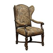 18th century english upholstered wingback chair for