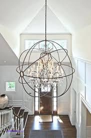 stylish foyer crystal chandelier