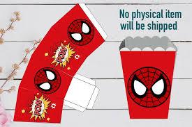 Spiderman Template Superhero Spiderman Chibi Birthday Party Set Template Printable