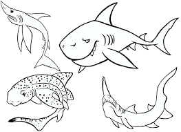 Shark Coloring Pages Free Of To Print Co Scary Flying Page