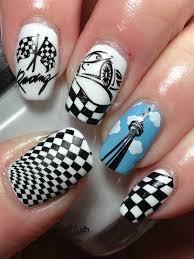 Nascar Nail Art Designs Racing Car Nail Art Wish I Was This Talented Racing Nails