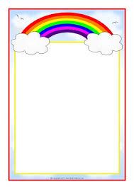 Preschool Page Borders Rainbow Themed Classroom Printables Sparklebox