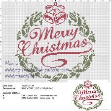Merry Christmas Cross Stitch Pattern Free Cross Stitch