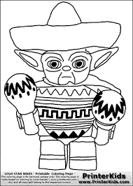 Small Picture Lego Star Wars Mexican Yoda Coloring Page Colour le page