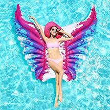 Buy iBaseToy Inflatable Pool Float, <b>Angel Wings Inflatable Floating</b> ...