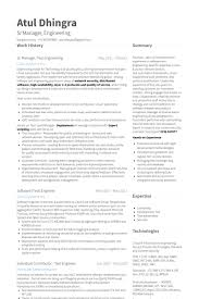 Engineer Resume Awesome R And D Test Engineer Sample Resume 48 Manager Test Engineering