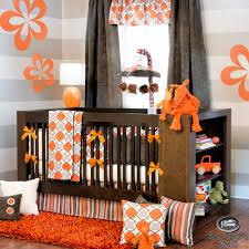 orange and gray bedding  home appliances decoration