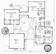 courtyard house plans u shaped luxury floor plan remarkable plans pool in middle hot u shaped