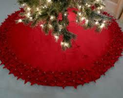 Burlap Christmas Tree Skirt 60u0027 Large Red And WhiteChristmas Tree Skirt Clearance