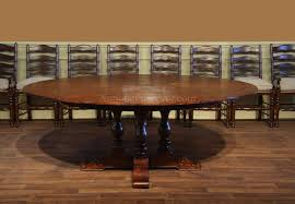 78 inch rustic round dining table for the casual dining area