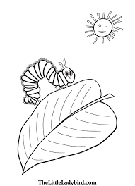 Caterpillar Coloring Page Unique Very Hungry Caterpillar Coloring