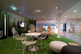 contemporary office design ideas. Modern Contemporary Office Informal Meeting Room Interior Design Stylish Photos Decorative Tree Indoor Iron Chair Green Ideas I