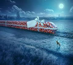 behance net gallery flytoget christmas  advertising campaign