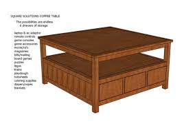 square solutions coffee table plans
