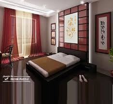 japanese interior design ideas for bedroom wall decor lighting window curtains