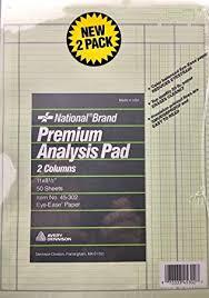 Amazon Com National Brand Premium Analysis Pad 2 Columns Graph