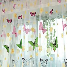 Sheer Curtains For Living Room Aliexpresscom Buy Butterfly Print Curtains Sheer Window Panel
