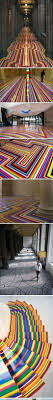 Glasgow, Scotland, visual artist Jim Lambie color bar geometry the vinyl  tape transform the room to put precise geometry across the floor with  colored vinyl ...