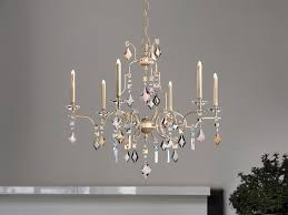 direct light halogen painted metal chandelier with crystals lizzi 3 3 by masiero