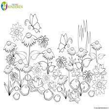 Kleurplaat Lente Groep 5 Ecosia Within Knutselen Bloemen Maken