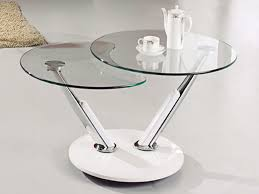 coffee table cool round glass side table metal base coffee table with two tiers table
