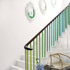 Painted stairs with colourful banister
