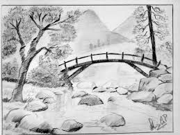 how to draw a scenery of village ideas beautiful drawings nature scenes drawing pencil step by