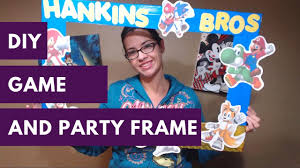 birthday party selfie frame and game diy