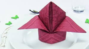 Napkin folding Bishop\u0027s Hat or Lily, EASY napkins folding TUTORIAL ...