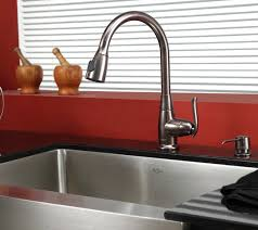 pictures gallery of kraus 36 inch farmhouse double bowl stainless steel kitchen sink in traditional kraus kitchen faucet with regard to home