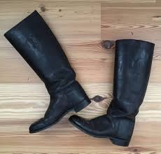vintage marlborough riding leather boots womens equestrian tall size 7 5 black for