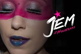 jem and the holograms inspired makeup