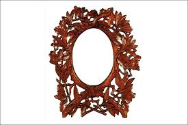 oak cherry oval filigree frame