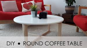 diy round coffee table easy simple