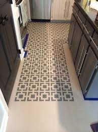 Painting A Kitchen Floor Remodelaholic High Style Low Cost Painted And Stenciled Floor