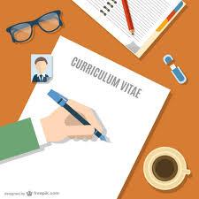 Curriculum Vitae Writer Writing Your Curriculum Vitae Vector Free Download