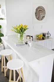 white tile countertops.  White Tiled Countertop DIY Click Through For Tutorial  Inside White Tile Countertops