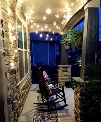 outdoor porch lighting ideas. string lights on the front porch outdoor lighting ideas e