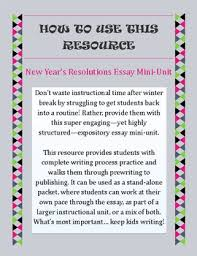 year s resolutions essay mini unit expository writing for new  new year s resolutions essay mini unit expository writing for new year 2018