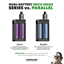 unregulated parallel box mod vs unregulated series box mod for safety s sake know the difference between unregulated series and parallel box mods