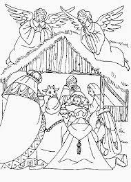 De Drie Koningen Bij De Stal Kleurplaat Jouwkleurplaten