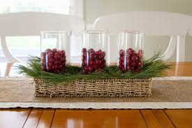 Simple Kitchen Table Centerpiece Sweet And Simple Christmas Centerpiece