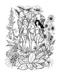Small Picture Fairy coloring pages for adults to download and print for free I