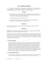 Sample Software License Agreement software license agreement free tvsputniktk 1