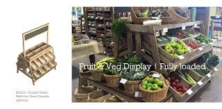 Fruit And Veg Display Stands Adorable Linkshelving Rustic Display EquipmentBakery Fruit Veg Units