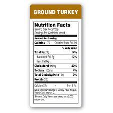 epsen hillmer nutrition facts ground turkey label p r paper supply co
