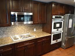 Southwestern Kitchen Cabinets Kitchen Contemporary Kitchen Backsplash Ideas With Dark Cabinets